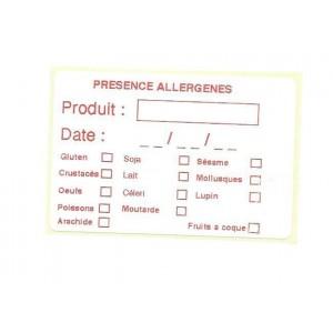Étiquette d'Informations Allergènes