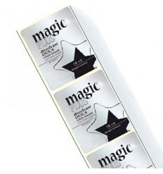Étiquettes en Bobine papier Alu brillant