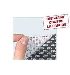 Étiquette technique de sécurité VOID