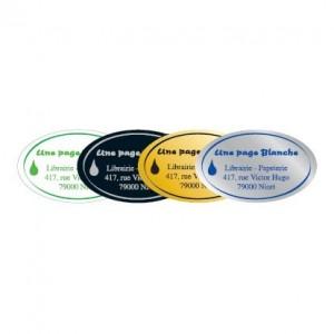 Étiquettes BOUTIQUE Reflets métal