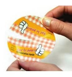 Étiquettes Fermeture sac avec découpes