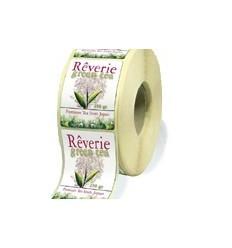 Étiquette écologique en bobine