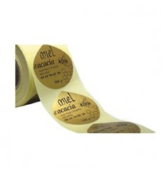 Étiquettes en Bobine Papier Or