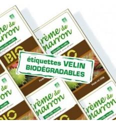 ÉCOLOGIQUE Étiquette en bobine Papier Biodégradable