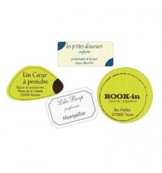 Étiquettes BOUTIQUE avec PAPIER RAINURE
