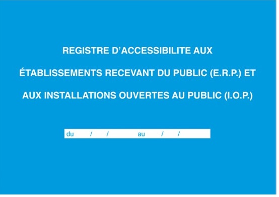 couverture registre accessibilite erp