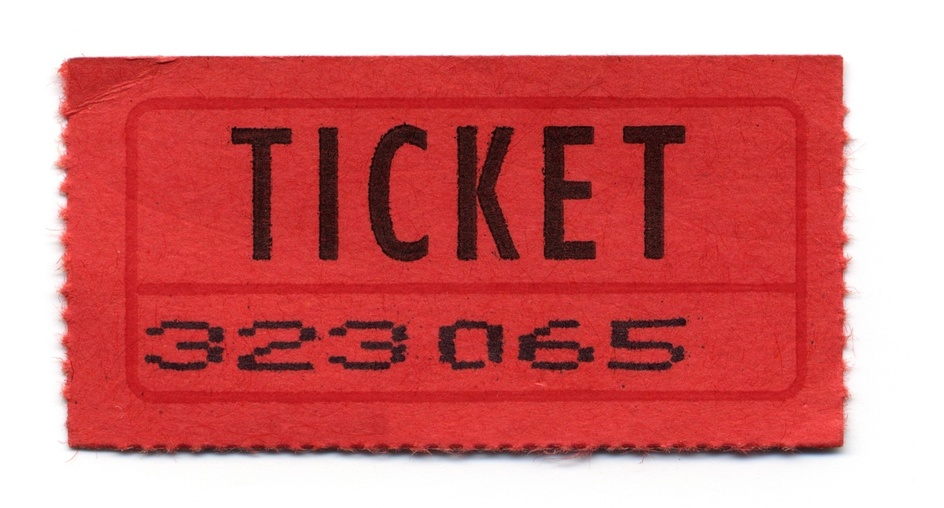Ancien ticket de cinema